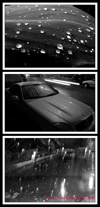 Fotos de lluvia en blanco y negro (Fotos: José Luis Sandoval)